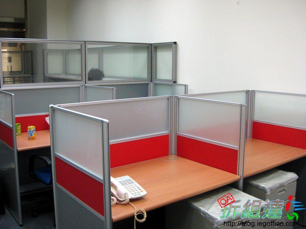 紅色辦公屏風